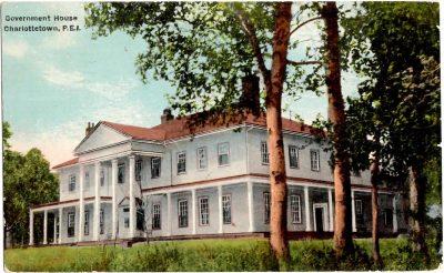, Government House Charlottetown, P.E.I. (0349), PEI Postcards