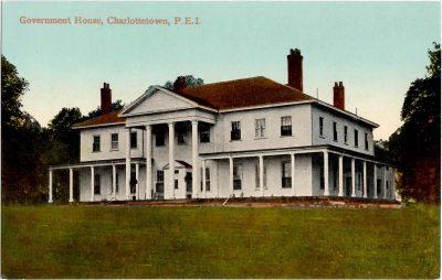 , Government House, Charlottetown, P.E.I. (0348), PEI Postcards