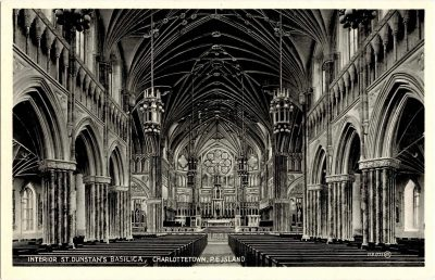 , Interior St. Dunstan's Basilica, Charlottetown, P.E. Island (0344), PEI Postcards