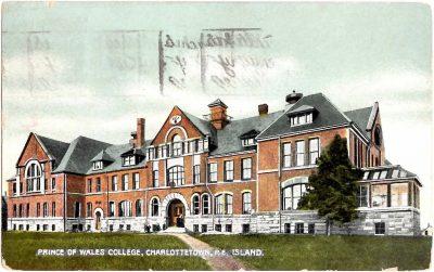 , Prince of Wales College, Charlottetown, P.E. Island. (0401), PEI Postcards