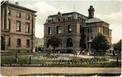 , Post Office, Charlottetown, P.E.I. (0397), PEI Postcards