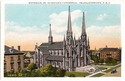 , Exterior, St. Dunstan's Cathedral, Charlottetown, PE.I. (0394), PEI Postcards