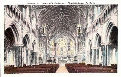 , Interior, St. Dunstan's Cathedral, Charlottetown, P.E.I. (0392), PEI Postcards
