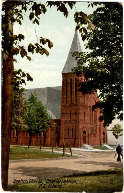 , Baptist Church, Charlottetown, P.E. Island (0393), PEI Postcards