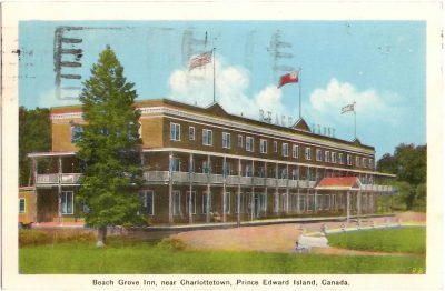 , Beach Grove Inn, near Charlottetown, Prince Edward Island, Canada. (0390), PEI Postcards