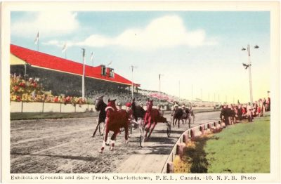 , Exhibition Grounds and Race Track, Charlottetown, P.E.I. Canada. (0389), PEI Postcards