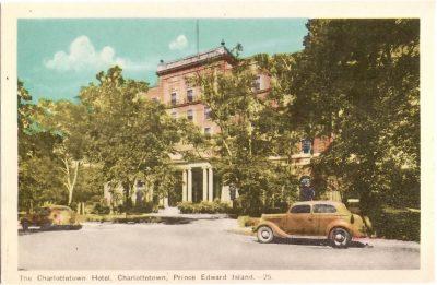, The Charlottetown Hotel, Charlottetown, Prince Edward Island. (0385), PEI Postcards