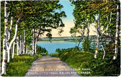 , Harbour View from Victoria Park, Charlottetown, P.E. Island Canada (0403), PEI Postcards