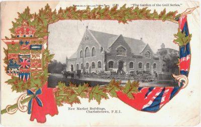 , New Market Buildings, Charlottetown, P.E.I. (0399), PEI Postcards