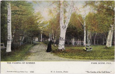 , The Passing of Summer Park Scene, P.E.I. (0456), PEI Postcards