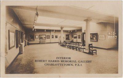 , Interior. Robert Harris Memorial Gallery, Charlottetown, P.E.I. (0458), PEI Postcards