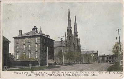 , View of Great George Street, Charlottetown, P.E.I. (0463), PEI Postcards