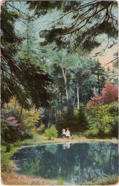 , The Pond in Victoria Park, Charlottetown, P.E.I. (0465), PEI Postcards