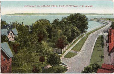, Entrance to Victoria Park, Charlottetown, P.E. Island (0466), PEI Postcards