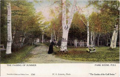 , The Passing of Summer Park Scene, P.E.I. (0474), PEI Postcards