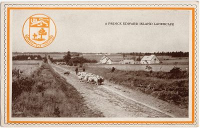 , A Prince Edward Island Landscape / Chocolates by Moirs, Halifax (0475), PEI Postcards