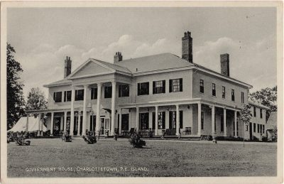 , Government House, Charlottetown, P.E. Island (0417), PEI Postcards