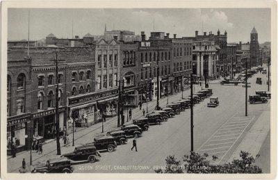 , Queen Street, Charlottetown, Prince Edward Island (0419), PEI Postcards
