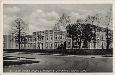 , Prince of Wales College, Charlottetown, Prince Edward Island (0427), PEI Postcards