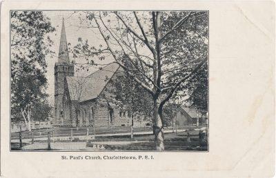 , St. Paul's Church, Charlottetown, P.E.I. (0428), PEI Postcards