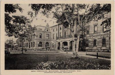 , Provincial Buildings, Charlottetown, P.E.I. (0429), PEI Postcards