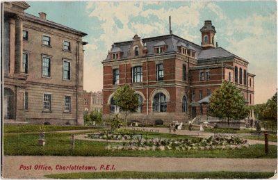 , Post Office, Charlottetown, P.E.I. (0432), PEI Postcards