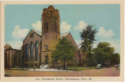 , Zion Presbyterian Church, Charlottetown, P.E.I. (0435), PEI Postcards