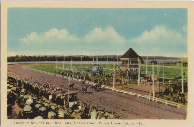 , Exhibition Grounds and Race track, Charlottetown, Prince Edwad Island. (0438), PEI Postcards