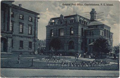 , General Post Office, Charlottetown, P.E. Island. (0446), PEI Postcards