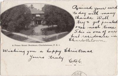 , A Prince Street Residence, Charlottetown, P.E.I. (0450), PEI Postcards