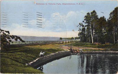 , Entrance to Victoria Park, Charlottetown, P.E.I. (0453), PEI Postcards