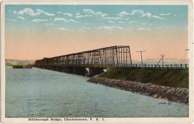 , Hillsborough Bridge, Charlottetown, P.E.I. (0485), PEI Postcards