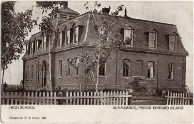, High School Summerside Prince Edward Island (0532), PEI Postcards