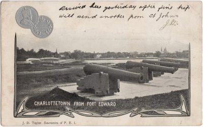 , Charlottetown from Fort Edward (0535), PEI Postcards