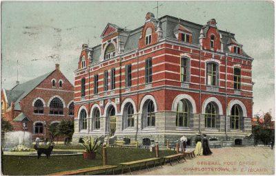, General Post Office, Charlottetown, P.E. Island (0538), PEI Postcards
