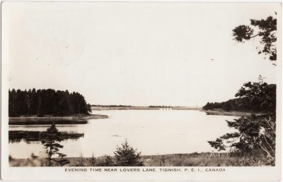 , Evening Time near Lovers Lane, Tignish, P.E.I., Canada. (0488), PEI Postcards