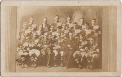 , St. Dunstan's University Rugby Team, 1931 (0493), PEI Postcards
