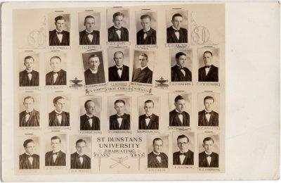 , St. Dunstan's University Graduating Class 1933 (0494), PEI Postcards