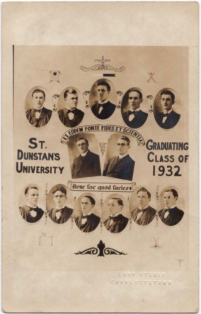 , St. Dunstan's University Graduating Class of 1932 (0495), PEI Postcards