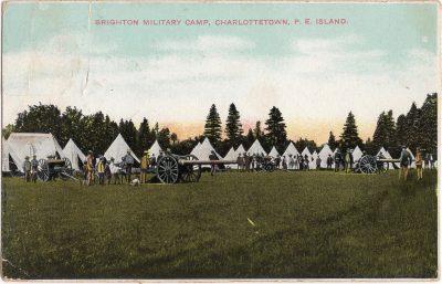 , Brighton Military Camp, Charlottetown, P.E. Island. (0482), PEI Postcards