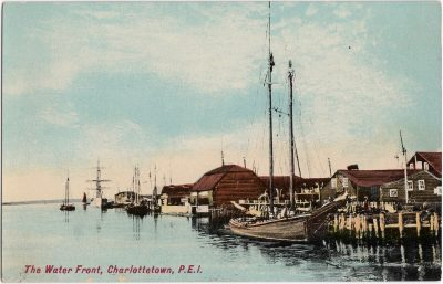 , The Water Front, Charlottetown, P.E.I. (0498), PEI Postcards