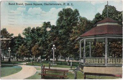 , Band Stand, Queen Square, Charlottetown, P.E.I. (0499), PEI Postcards
