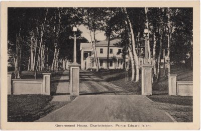 , Government House Charlottetown, Prince Edward Island (0504), PEI Postcards