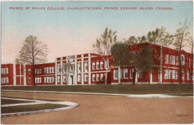 , Prince of Wales College, Charlottetown, Prince Edward Island, Canada (0508), PEI Postcards