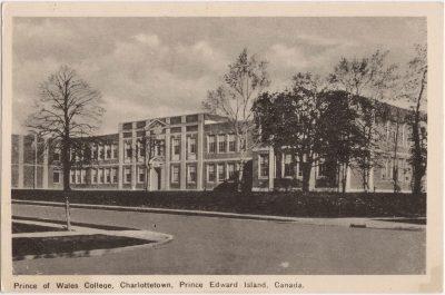 , Prince of Wales College, Charlottetown, Prince Edward Island, Canada. (0509), PEI Postcards