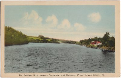 , The Cardigan River between Georgetown and Montague, Prince Edward Island. (0526), PEI Postcards