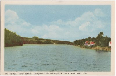 , The Cardigan River between Georgetown and Montague, Prince Edward Island. (0529), PEI Postcards