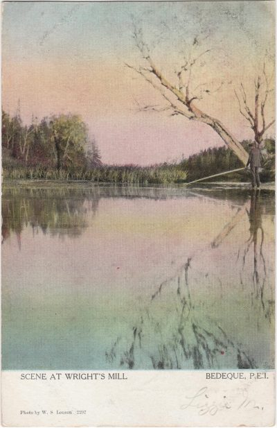, Scene at Wright's Mill (0668), PEI Postcards