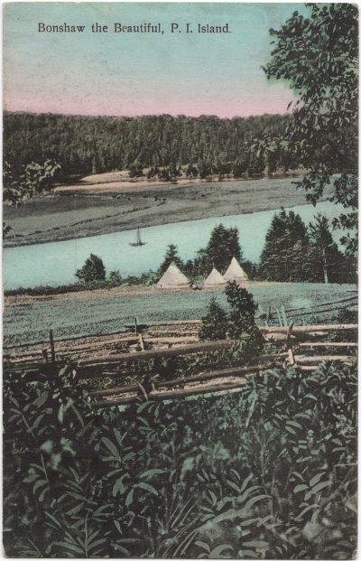 , Bonshaw the Beautiful, P.I. Island {spelling mistake} (0672), PEI Postcards