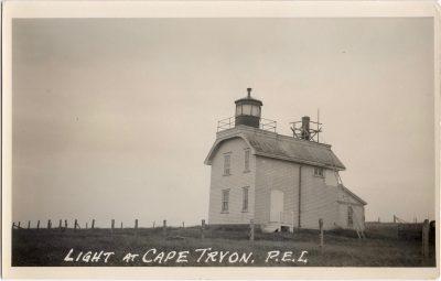 , Light at Cape Tryon (0661), PEI Postcards